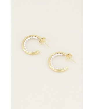 PEARLY EARRING - GOLD