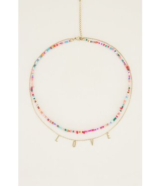 DOUBLE COLORFUL NECKLACE - LOVE