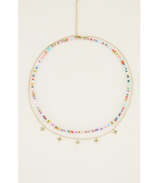 DOUBLE COLORFUL NECKLACE - STARS