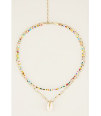 DOUBLE COLORFUL NECKLACE - SHELL