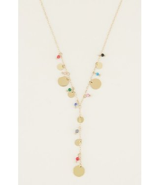 Y-COLORFUL NECKLACE - GOLD