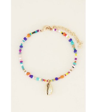 COLORFUL GOLD SHELL ANKLET