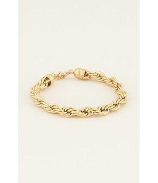 PRETTY TWISTED BRACELET - GOLD