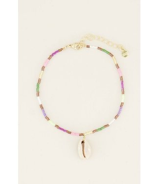 COLORFUL WHITE SHELL ANKLET