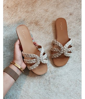 SUMMER VACAY SLIPPERS - BEIGE