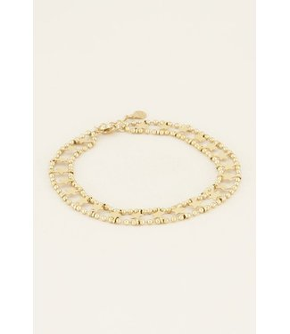 DOUBLE STAR ANKLET - GOLD