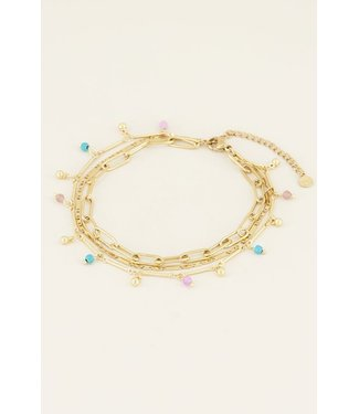 THREE LAYER ANKLET - GOLD
