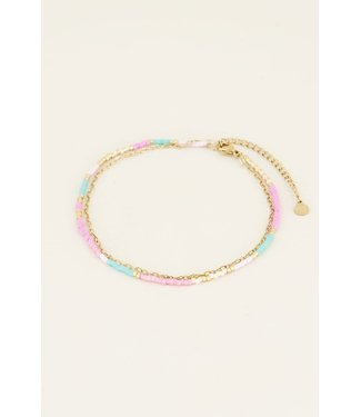 COLORFUL/GOLD ANKLET