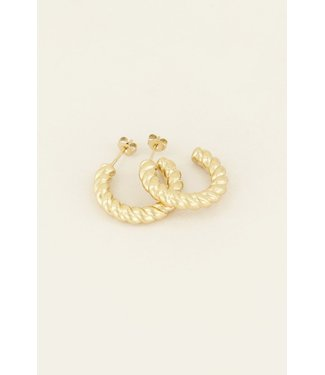 STATEMENT TWISTED EARRING - GOLD