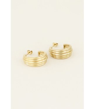 STATEMENT LAYERS EARRING - GOLD