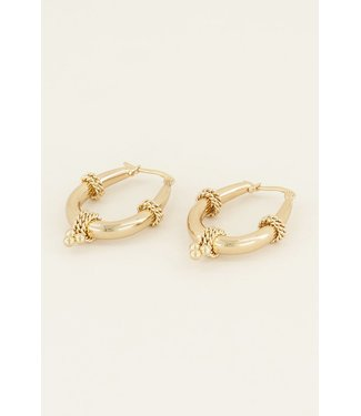 STATEMENT VINTAGE EARRINGS - GOLD