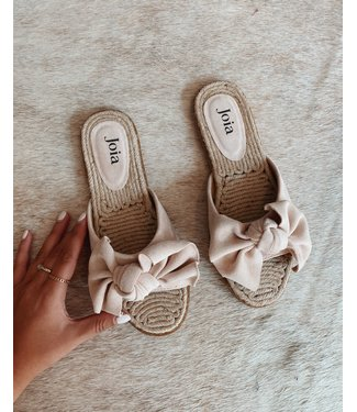 BOW SUMMER SLIPPER - BEIGE