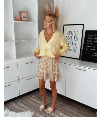 PASTEL CARDIGAN - YELLOW