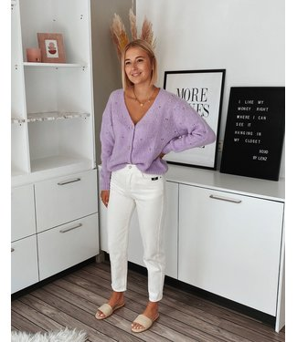 PASTEL CARDIGAN - PURPLE
