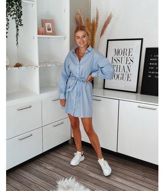 LUCY SHIRT DRESS - BLUE