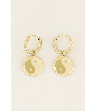 YING&YANG EARRINGS - GOLD