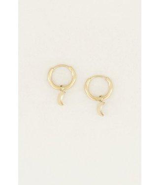 TINY MOON EARRINGS - GOLD