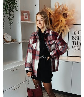 FALL CHECKED SHIRT - RED