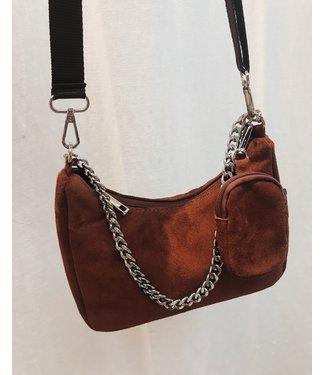 P-INSPIRED BAG - BROWN