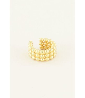 EARCUFF WITH GLOBES - GOLD