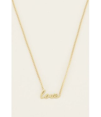 LOVE HANDWRITING NECKLACE - GOLD