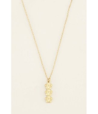 3 FLOWERS NECKLACE - GOLD