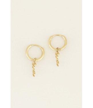 EARRINGS LOVE - GOLD