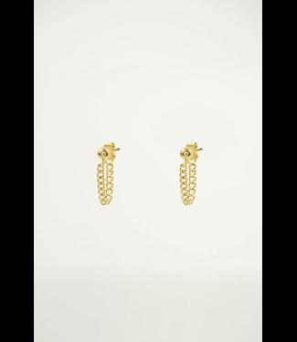 EARRINGS SHORT CHAIN - GOLD