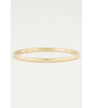 BANGLE WITH SCALES - GOLD