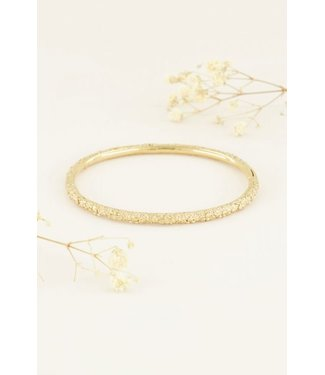 BANGLE WITH FLOWERS - GOLD