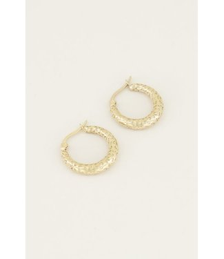 EARRINGS WITH SPOTS - GOLD