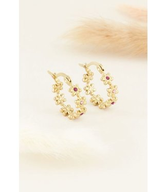 PEARLY FLOWERS EARRINGS - GOLD