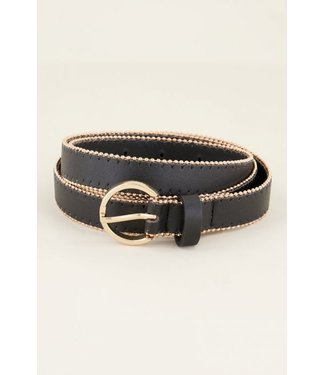 BELT WITH STUDS - GOLD