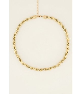 TWISTED NECKLACE - GOLD