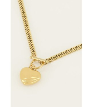 LUCKY CHARMS NECKLACE - BIG HEART GOLD