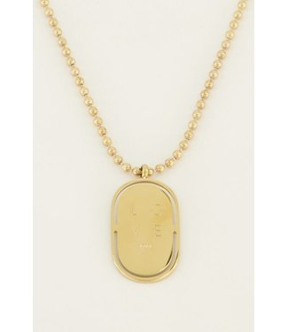 LOVE PLATE NECKLACE - GOLD