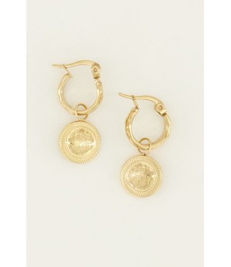 COIN EARRING - GOLD