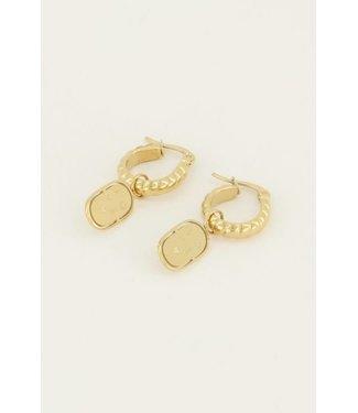 LOVE PLATE EARRING - GOLD