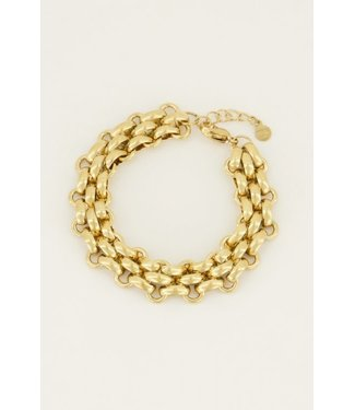 WIDE CHAIN BRACELET - GOLD