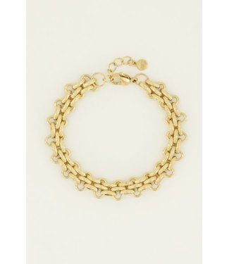 SMALL WIDE CHAIN BRACELET - GOLD