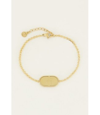 LOVE PLATE BRACELET - GOLD