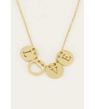 LUCKY CHARMS NECKLACE LOVE - GOLD