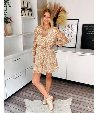 CREAMY LEOPARD DRESS