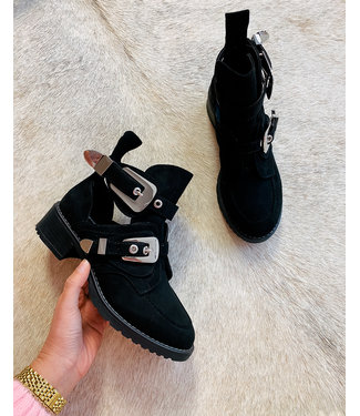 BUCKLE BOOTS - BLACK