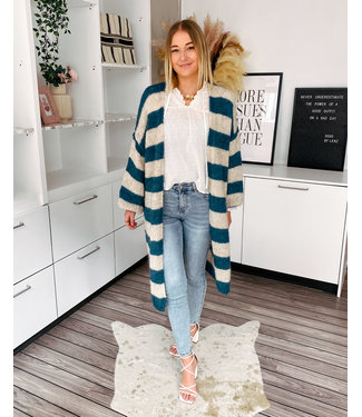 KNITTED MAXI CARDIE