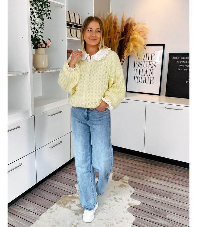 NELLIE KNIT - SOFT YELLOW