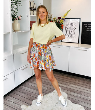 LOUISE PLAYFUL FLORAL SKIRT - BRIGHT