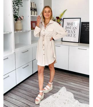 JANNE SHIRT DRESS - CLASSY BEIGE