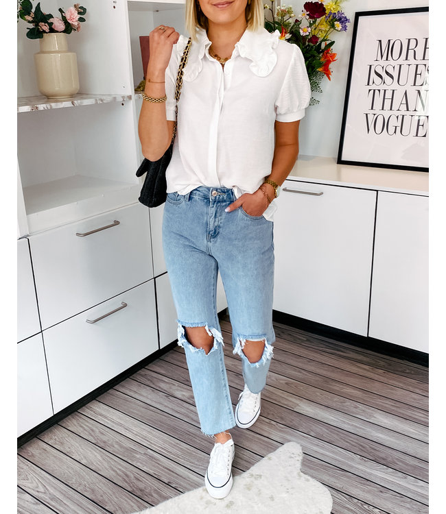 395C HIGH WAIST MOM JEANS RIPPED