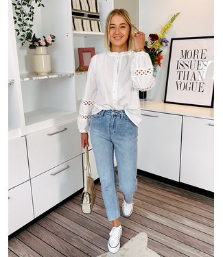 365C-5 HIGH WAIST CROPPED STRAIGHT JEANS